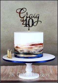 Mans Birthday Cake Watercolour 60th For Men 40 40th