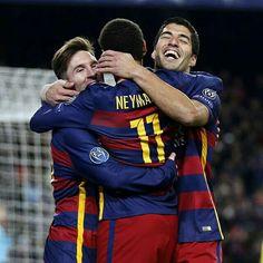 #FCBvRoma  @leomessi @neymarjr @luissuarez9  Força Barça!