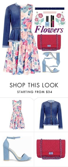 """""""Untitled #1076"""" by gabi-sweet ❤ liked on Polyvore featuring Dorothy Perkins, Rebecca Taylor, Nly Shoes, Chanel and Topshop"""