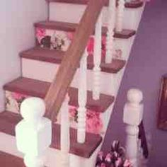 Four little walls: Mini makeover: washi stairs doll's house miniature