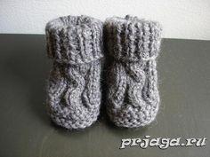 Вязание пинеток носков спицами. Описание.