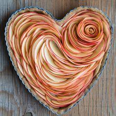 Valentine's Apple Rose Tart Apple Slices                                                                                                                                                                                 More