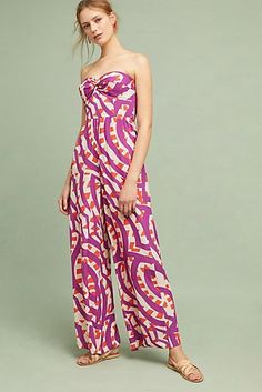Shyra Printed-Strapless Jumpsuit