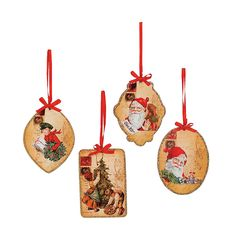 Christmas Postcard Ornaments - TerrysVillage.com