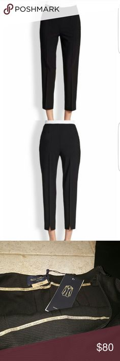Piazza Sempione Audrey pants New with tags. Solid black made in Italy. Size 46. Equivalent to US 10. 96% cotton 4% elastane. Piazza Sempione  Pants Ankle & Cropped