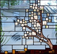 Josephine works from her Minnesota studio creating geometric and slightly abstract 'landscape mosaics' crafted in traditional leaded stained glass. Stained Glass Flowers, Stained Glass Designs, Stained Glass Panels, Stained Glass Projects, Fused Glass Art, Stained Glass Patterns, Stained Glass Art, Mosaic Glass, Beveled Glass