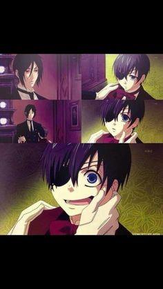 Black butler - Sebastian trying to make Ciel smile!