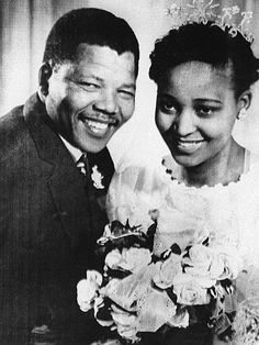 "During his time in Johannesburg, Mandela meets 20-year-old social worker Nomzamo Winnie Madikizela. ""I cannot say for certain if there is such a thing as love at first sight,"" he wrote in his 1994 autobiography. ""But I do know that the moment I first glimpsed Winnie Nomzamo, I knew that I wanted to have her as my wife."" He divorces Evelyn in 1955 and marries Winnie three years later, welcoming daughters with her in 1958 and 1960."