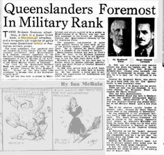 1940 Major General H D Wynter formerly of Maryborough appointed to the branch of Adjutant General and Quartermaster General of the 1st Australian Corps.