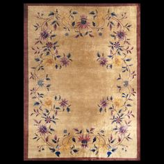 Stock Id: #20432  General Rug Type:      Chinese  Specific Rug Type:      Chinese - Art Deco  Circa: 1920  Color: Tan  Origin: China  Width: 9' 0'' ( 274.3 cm )  Length: 12' 0'' ( 365.8 cm )