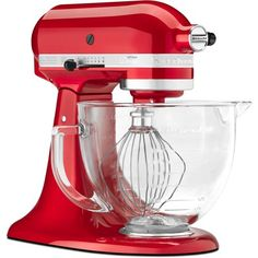 KitchenAid Artisan Designer Series Stand Mixer. Mama Bear just got me one of these for an early christmas present only with a metal bowl....Thinking about getting a second one. (bowl, not mixer.)