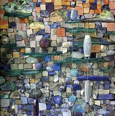 'Glad I spent it with you' detail ~ artist  Marian Shapiro #art #mosaic