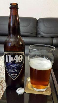 White stout de Cerveceria Minerva. Cerveza de su 11° aniversario.  Jalisco, México.
