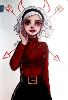 Sabrina spellman is part of pencil-drawings - pencil-drawings Cool Art Drawings, Pencil Art Drawings, Art Drawings Sketches, Disney Drawings, Drawings Of Girls, Cartoon Kunst, Anime Kunst, Cartoon Art, Anime Art