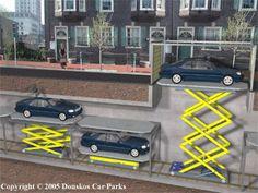 A robotic car park