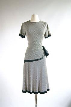 1940s Rayon vintage dress