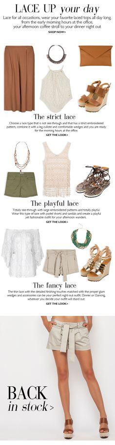 BSB Fashion Newsletter S/S 15 - Lace up your day  Shop online www.bsbfashion.com