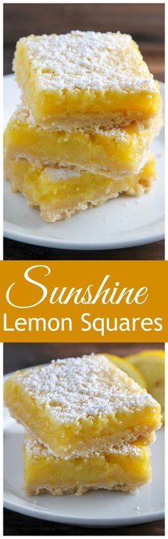 Sunny Lemon Squares feature a crunchy coconut crust, creamy lemon filling, and a sprinkle of sweet sugar on top. YUM.