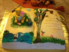 Winnie the Pooh Baby shower cake. How can something so small take up so much room in your heart! ~ Winnie The Pooh