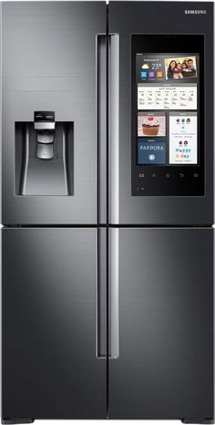 Samsung   Family Hub 2.0 22.0 Cu. Ft. 4 Door Flex French Door Counter Depth  Refrigerator With Apps   Stainless Steel (Silver) | Pinterest | Counter  Depth ...