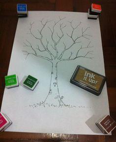 Recordação para o anfitrião: árvore de digitais.