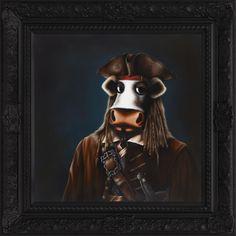 Arrrrrgh!, by Caroline Shotton - new for Spring 2013 #art #cows #JackSparrow #pirate