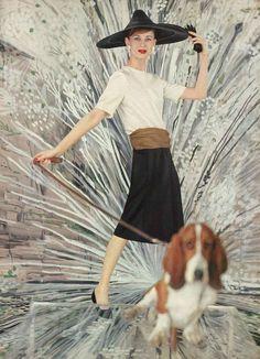 Vogue May 1958, photo by Karen Radkai.