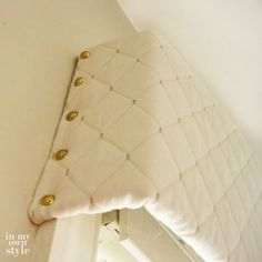 Easy to make window valance using a cardboard box
