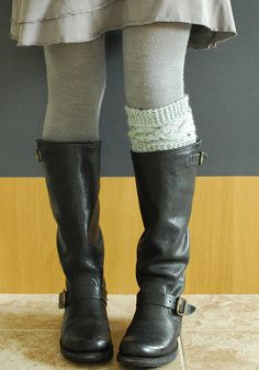 Boot topper pattern by chickpeastudio,