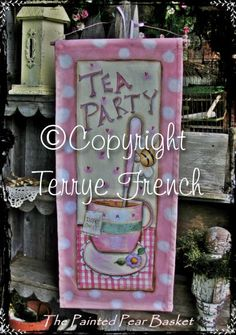 Bee Tea Party Terrye French pattern packet por PaintingWithFriends
