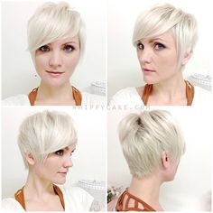 short pixie - all angles by Whippy Cake. I love her blog and videos! She is absolutely an inspiration for platinum blonde, pale skinned, pixie cut sporting girls like me!