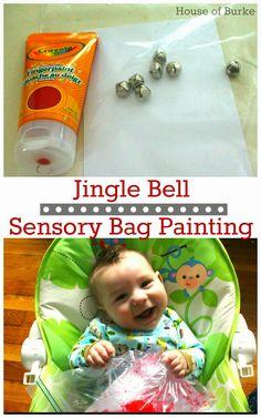 Jingle Bell Sensory Bag Painting - House of Burke                                                                                                                                                     More