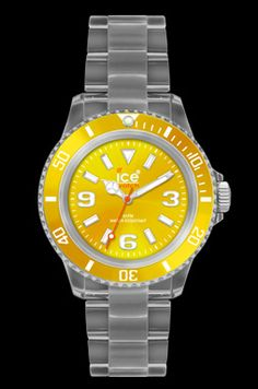 Ice Watch, Classic Clear, Yellow... Love this for summer!