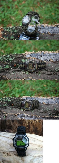 Other Camping Hiking Clothing 27362: Custom Casio 550 Paracord Premium Survival Watch Kit Od Green -Firesteel Knife -> BUY IT NOW ONLY: $39.99 on eBay!