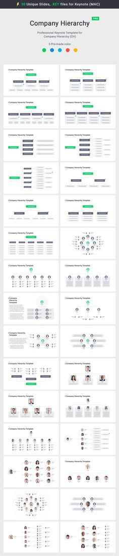 30 professional Org chart Keynote template special for Keynote (MAC users), KEY files, easy to edit (only vector shapes), 5 pre-made color, retina-ready. Powerpoint Free, Professional Powerpoint Templates, Flow Chart Template, Keynote Template, Organizational Chart, Workplace Design, Chart Design, Magazine Template, Save Yourself