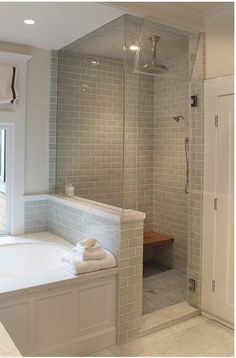Shower beside tub?