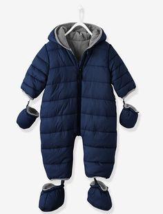 Winter-Overall für Babys, Fleecefutter BLAU+MARINE