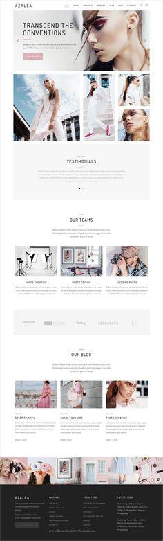 Azalea is a fresh and fashionable responsive #WordPress theme for #photography #studio portfolio showcase website with multiple homepage layouts download now➩ https://themeforest.net/item/azalea-a-fresh-and-fashionable-photography-theme/19609162?ref=Datasata