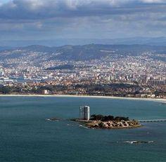 Samil, Isla de Toralla. Ria de Vigo. Galicia. Spain.