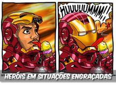 Heróis em situações engraçadas