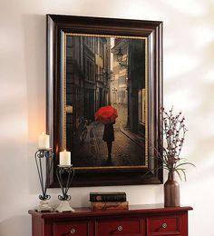 Red Rain Framed Art Print | Kirklands