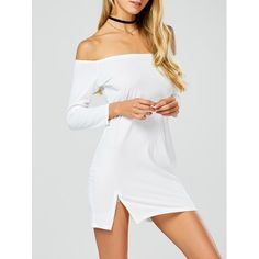 Long Sleeves Mini Hooded Dress - WHITE XL