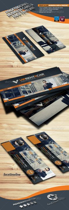 Rent A Car Business Card & Face Timeline  #GraphicRiver        Rent A Car Business Card & Face Timeline  Fully layered INDD   Fully layered PSD   300 Dpi, CMYK   Face Timeline 851×315 72 Dpi RGB   IDML format open Indesign CS4 or later  Completely editable, print ready  Text/Font or Color can be altered as needed  All Image are in vector format, so can customise easily  Photos are not included in the file  Help.txt fonts in the file  Help.txt file     Created: 25January13…