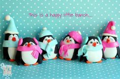 CUTE Winter Penguins cake topper from sugar high