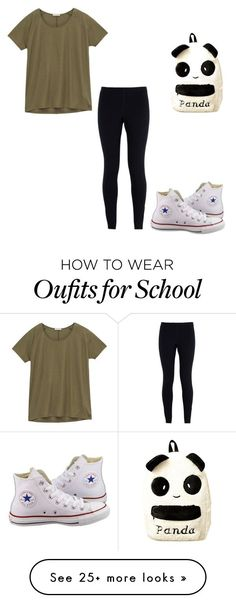 """""""$192 back to school outfit"""" by redhedqueen1 on Polyvore featuring NIKE, Lee and Converse"""