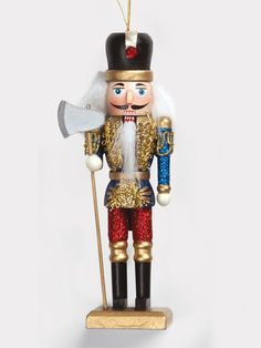 This majestic nutcracker ornament is the perfect addition to your holiday decor! Features ornate painted details and a movable jaw. Comes with one of three nutcrackers shown. An excellent gift! Nutcracker Ornaments, Hallmark Ornaments, Christmas Ornaments, Ballet Performances, All About Dance, Dance Tights, Costume, Holiday Wishes, Dance Outfits