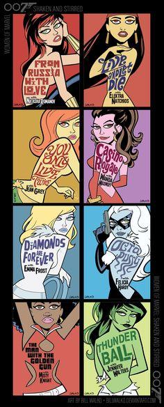 Women of Marvel as Bond Girls - Title Card Art - News - GeekTyrant