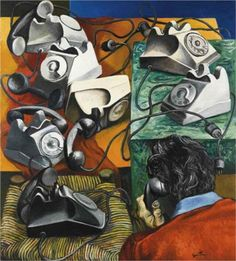 Telefoni. L'incomunicabilità - Renato Guttuso