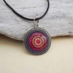 Spirituelle Kette Mandala Anhänger 35 mm von KIMAMAdesign auf Etsy