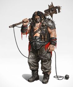 ArtStation - The pipe wrench man, U ria Post Apocalypse, Apocalypse World, Post Apocalyptic Costume, Post Apocalyptic Art, Character Concept, Character Art, Cthulhu, Apocalypse Character, Dystopia Rising